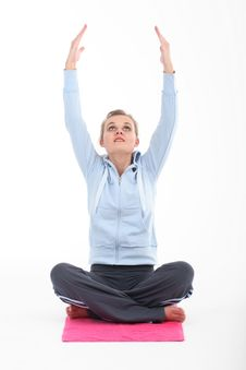 Free Young Woman Doing Yoga Stock Image - 5357731