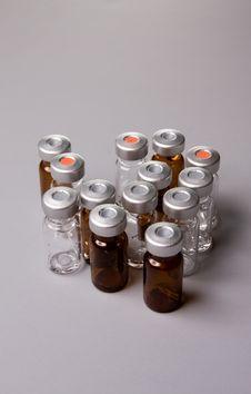Sterile Bottles Stock Images