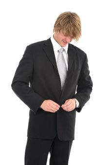 Cheerful Young Businessman Stock Images