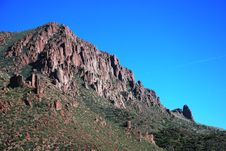 Free Desert Mountain With Blue  Sky Royalty Free Stock Image - 5358316
