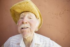 Free Senior Citizen Man In A Cowboy Hat Stock Images - 5358414
