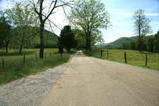 Road Through Cades Cove Royalty Free Stock Image
