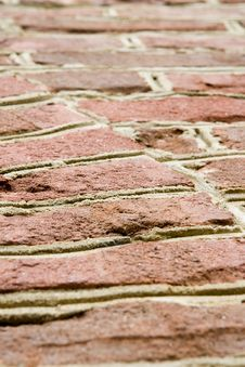 Free Aged Red Brick Wall Royalty Free Stock Photo - 5358745