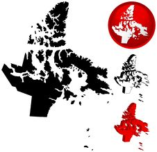 Free Map Of Nunavut, Canada Stock Photos - 5358833