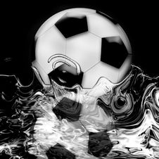 Free Football Reflect Illusion Royalty Free Stock Photos - 5358928