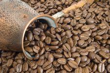 Free Turkish Coffee Pot. Royalty Free Stock Image - 5359576