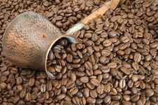 Free Turkish Coffee Pot. Royalty Free Stock Photos - 5359588
