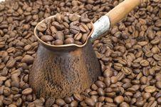 Free Turkish Coffee Pot. Stock Photos - 5359593