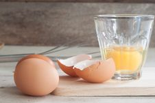 Ingredients And Tools To Make A Cake, Eggs, Bakery Cups Stock Photography
