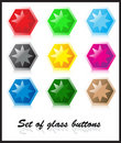 Free Set Of Glass Buttons Royalty Free Stock Images - 5361579