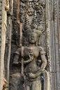 Free Cambodia Angkor Chau Say Tevoda Bas Reliefs Royalty Free Stock Photography - 5369537