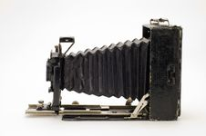 Old Classical Camera With Furs. Stock Photos