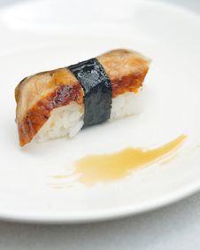 Japanese Sushi Unagi Stock Images