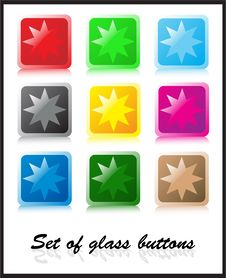 Free Set Of Glass Buttons Stock Images - 5361564