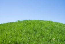 Free Green Hill And Blue Sky Royalty Free Stock Photo - 5362635