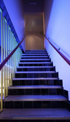 Free Modern Stairs In A Hospital In The Netherlands Royalty Free Stock Image - 5362726