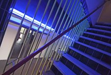 Free Modern Stairs In A Hospital In The Netherlands Stock Photo - 5362730