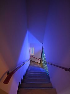 Free Modern Stairs In A Hospital In The Netherlands Stock Image - 5362741
