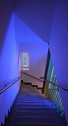 Free Modern Stairs In A Hospital In The Netherlands Royalty Free Stock Photos - 5362758