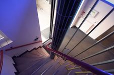 Free Modern Stairs In A Hospital In The Netherlands Royalty Free Stock Images - 5362839