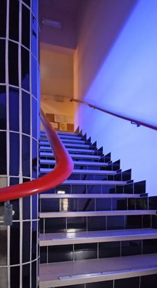 Free Modern Stairs In A Hospital In The Netherlands Stock Image - 5362841