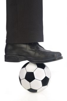 Free Soccer Ball And Shoe Royalty Free Stock Photos - 5363288