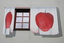 Free Window Decorated With Apples Stock Images - 5363304