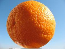 Free Orange On The Blue Sky Backgro Stock Photo - 5363720