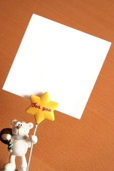 Free Bear Memo Holder Stock Image - 5363771