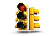 Free Red Traffic Light Royalty Free Stock Image - 5363816