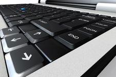 Free Laptop Keyboard 3d Illustration Stock Photo - 5363870