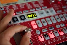Free Person Is Playing The Sequencer Royalty Free Stock Photography - 5364927