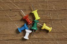 Free Push-pins Of Various Colors. Royalty Free Stock Image - 5365936