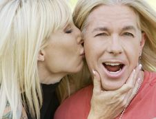 Free Woman Kissing A Man Royalty Free Stock Photo - 5366675