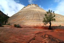 Free Rock Formation In Zion National Park Stock Images - 5366694