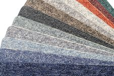 Free Color Range Of Carpet Samples Royalty Free Stock Images - 5366759