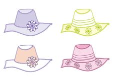 Summer Hats Stock Photos