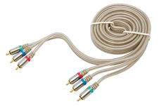 Component Video Cable Stock Image