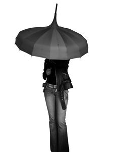 Free Girl Under Umbrella Stock Photo - 5367180