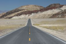 Road In Death Valley National Park Stock Photography