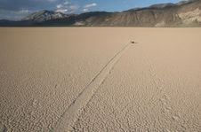 Racetrack In Death Valley Stock Images
