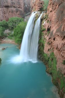 Free Beautiful Havasu Falls Stock Images - 5367444