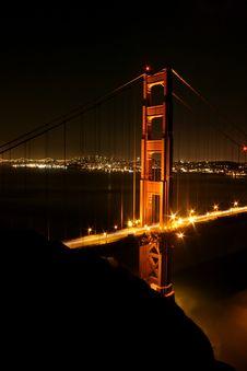 Free Golden Gate Bridge In Lights Stock Image - 5367501