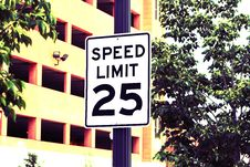 Free Speed Limit Royalty Free Stock Image - 5367516