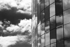The Glass And Clouds Stock Images