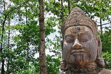Free Cambodia The Doors Of Angkor Thom Royalty Free Stock Image - 5368396