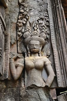 Cambodia Angkor Chau Say Tevoda Temple Royalty Free Stock Images