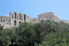 View To Athens Acropolis Royalty Free Stock Photos