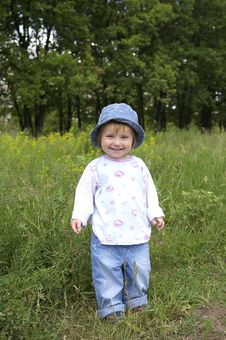 Free Girl On A Background Of A Landscape Royalty Free Stock Images - 5369709