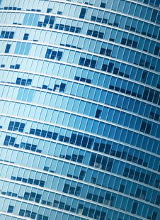Free Modern Office Building Fragment Royalty Free Stock Image - 5369856